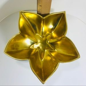 Limoges star dish with 18kt gold wash